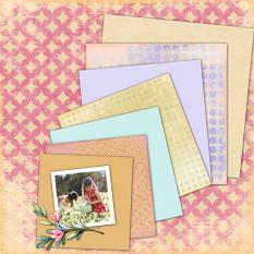 Layout by Marie Orsini with Pink Easter Paper Mini