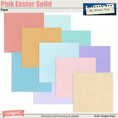 Pink Easter Solid Paper Mini by Aftermidnight Design
