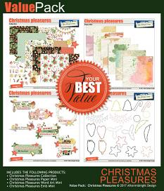 Christmas Pleasures Value Pack by Aftermidnight Design