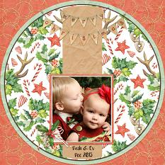 Layout by Andrea using Christmas Pleasures Collection by Aftermidnight Design