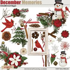December Memories Embellishment Biggie