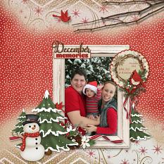 December Memories digital scrapbooking layout by Sue Maravelas