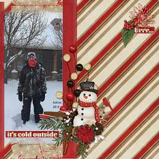 Brrr digital scrapbooking layout by Sondra Cook using December Memories Collections