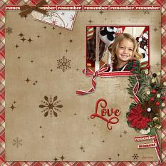 Love digital scrapbooking layout by Geraldine Touitou using December Memories Collections