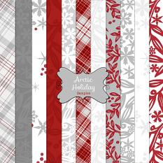 Arctic Holiday custom layer style samples