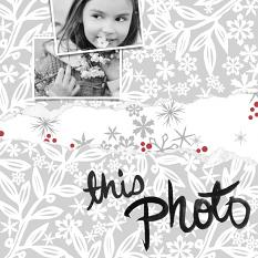 Scrapbook Layout created using Arctic Holiday Custom Layer Styles