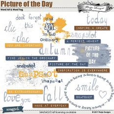 Picture of the day Word Art and Word Tag by florju designs