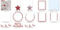 detail ScrapSimple Embellishment Templates: Red Christmas Pack 07 by florju designs
