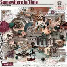 Somewhere In Time Embellishments by On A Whimsical Adventure