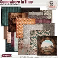 Somewhere In Time Pattern And Mixed Media Papers by On A Whimsical Adventure
