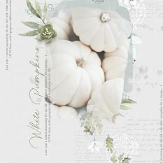 "Color Palettes 02 Digital Scrapbooking Collection Mini Layout ""White Pumpkins"" by Brandy Murry"