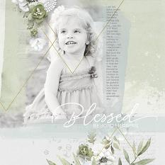 "Color Palettes 02 Digital Scrapbooking Collection Mini Layout ""Blessed"" by Brandy Murry"