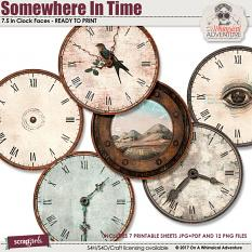 Somewhere In Time Clock Faces by On A Whimsical Adventure