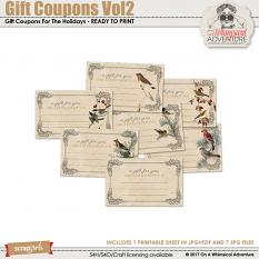 Gift Coupons Vol2 by On A Whimsical Adventure