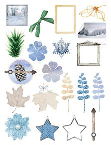 A touch of frost by Aftermidnight Design Embellishment Sheet 1