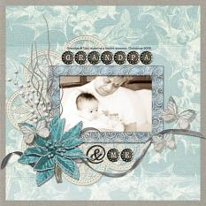 Scrapbook layout Winter's Hush Embellishment templates