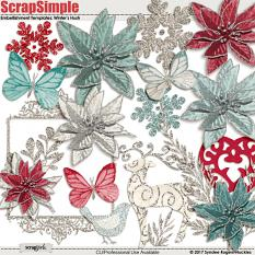 Winter's Hush Embellishment templates