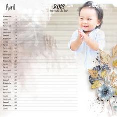 layout using Make your own calendar 2018 : Paper Biggie by florju designs