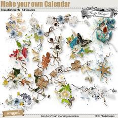 Make your own calendar 2018 Embellishment : Clusters Pack