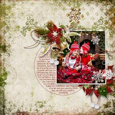 layout using Merry Christmas Embellishment Mini : Cluster Pack 2 by florju designs