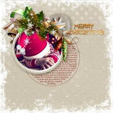 layout using Merry Christmas Embellishment Mini : Cluster Pack 1 by florju designs