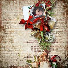 layout using Merry Christmas Embellishments Biggie by florju designs