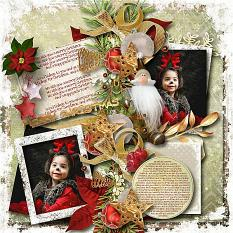 layout using Merry Christmas Papers Biggie by florju designs