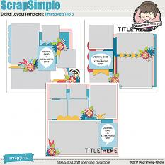 Timesavers Trio 3 Digital Scrapbook Templates by Dagi's Temp-tations