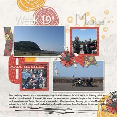 layout by Marie using 2017 Happenings Week 17 - 20 by Dagi's Temp-tations