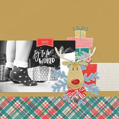"""""""Joy to the World"""" digital scrapbook layout by Angie Briggs"""