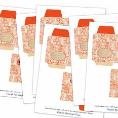 Christmas Time Coin Envelopes by Aftermidnight Design
