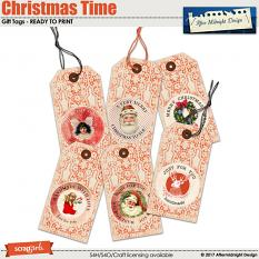 Christmas Time Gift Tags by Aftermidnight Design