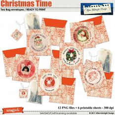 Christmas Time Tea Bags Envelopes by Aftermidnight Design