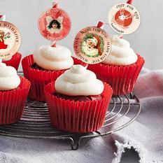Layout by Marie Orsini using Christmas Time Cupcake toppers by Aftermidnight Design