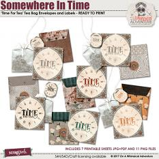 Somewhere In Time Tea Bag Envelopes by On A Whimsical Adventure
