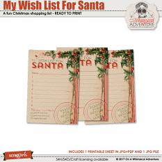 My Wish List For Santa by On A Whimsical Adventure