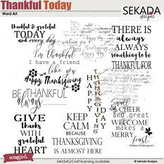 Thankful Today Word Art