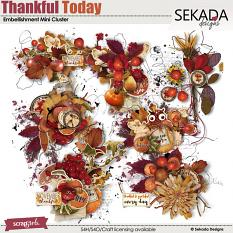 Thankful Today Embellishment Mini Cluster