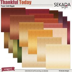 Thankful Today Papers Biggie Solids