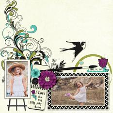 """Silly Jilly Bean"" digital scrapbook layout by Darryl Beers"