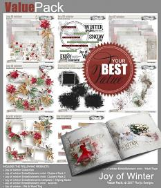 layout using  Joy Of Winter Embellishment Mini: Accent by florju designs