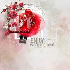 layout using Joy Of Winter Word Art and Word Tag by florju designs