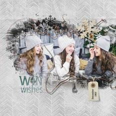 layout using ScrapSimple Embellishment template : Joy of Winter Clipping Mask by florju designs