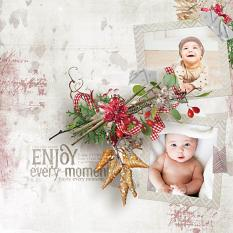 layout using Joy Of Winter Embellishment Mini: Cluster Pack 2 by florju designs