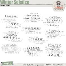Winter Solstice Winter Quotes by On A Whimsical Adventure