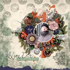 Digital layout using Winter Solstice by On A Whimsical Adventure