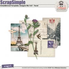 ScrapSimple Embellishment Templates: Designer Mix Vol1 by On A Whimsical Adventure