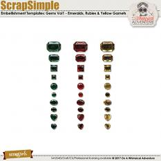 ScrapSimple Embellishment Templates: Gems Vol1 by On A Whimsical Adventure