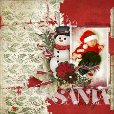 Sant Baby #digitalscrapbooking layout by AFT Designs - Amanda Fraijo-Tobin | #digiscrap #scrapbooking #layout #christmas #xmas