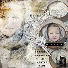 layout using Chilly Day Embellishment mini: Cluster Pack Word art and Word Tags by florju designs